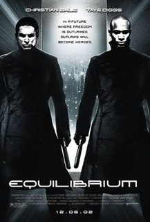 <i>Equilibrium</i> (film) 2002 science fiction movie directed by Kurt Wimmer