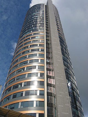 Europa Tower is the tallest building in the Baltic states and is one of the symbols of modern Vilnius and its economic growth Europe tower.jpg