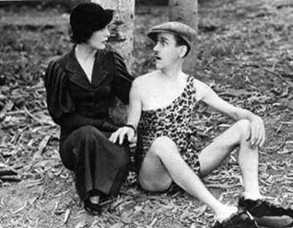 Muriel Evans - Muriel Evans with Charley Chase in the 1933 film Nature in the Wrong