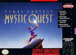 <i>Final Fantasy Mystic Quest</i> 1992 SNES game