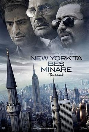 Five Minarets in New York - Theatrical Poster by Emrah Yücel
