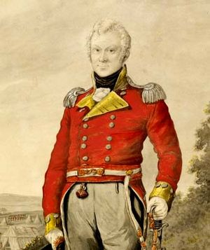 George Johnston (British Marines officer) - Lt. Col. George Johnston, 1810 watercolour portrait by R. Dighton:  State Library of NSW