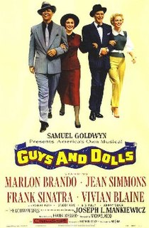 <i>Guys and Dolls</i> (film) 1955 America musical film directed by Joseph L. Mankiewicz