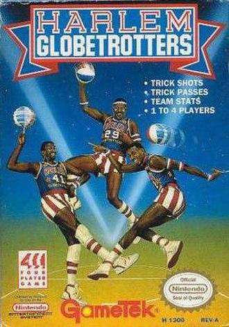Harlem Globetrotters (video game) - NES cover art of Harlem Globetrotters