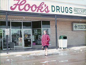 Hook's Drug Stores - A typical Hook's store in New Castle, Indiana, in 1974