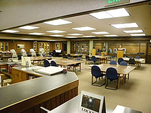 Hoover Institution Library and Archives - Reading room of the Hoover Institution Archives as it appeared in June 2011.