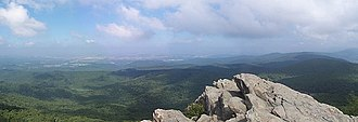 Humpback Rock - A view to the north-west from Humpback Rocks