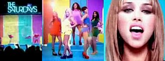 """If This Is Love - A screenshot of some of the scenes from the colourful, celebrity-inspired music video for """"If This Is Love""""."""