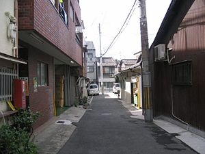 Ikuno-ku, Osaka - A typical residential area of Ikuno-ku