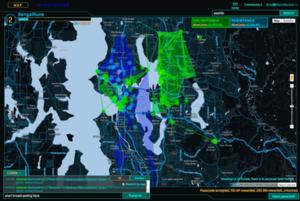 Ingress (video game) - Image: Ingress Intel Map full screen