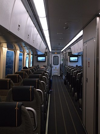Union Pearson Express - Interior view of a coach