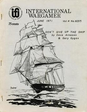 International Federation of Wargaming - June 1971 issue of the International Wargamer, featuring work of Dave Arneson and Gary Gygax