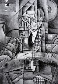 Jean Metzinger, 1911-12, Man with a Pipe (Portrait of an American Smoker), oil on canvas, 92.7 x 65.4 cm (36.5 x 25.75 in), Lawrence University, Appleton, Wisconsin.jpg