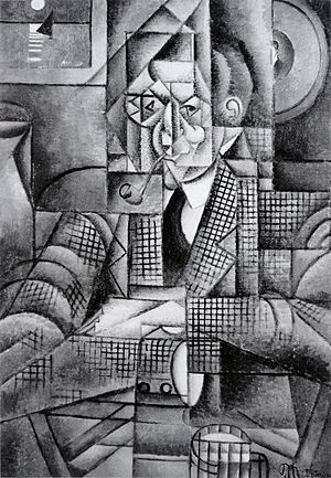 Man with a Pipe - Image: Jean Metzinger, 1911 12, Man with a Pipe (Portrait of an American Smoker), oil on canvas, 92.7 x 65.4 cm (36.5 x 25.75 in), Lawrence University, Appleton, Wisconsin