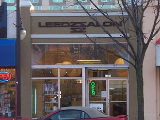 Ames, Iowa - Leedzsalon in Campustown