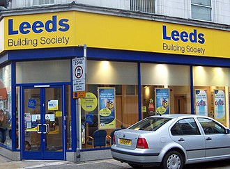 Leeds Building Society - A high-street branch of the Leeds Building Society in Peterborough