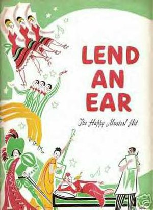 Lend an Ear - Original theatre program