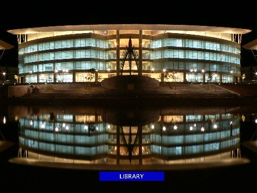 Library building (Asian Institute of Medicine, Science and Technology University, Kedah, Malaysia) (night view)