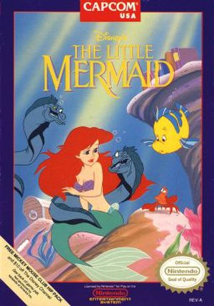 The Little Mermaid (franchise) - Cover art that was used in both NES and Game Boy versions of The Little Mermaid video game in North America.