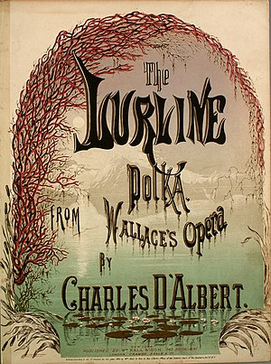 Lurline (opera) - Cover of the score for The Lurline Polka, published shortly after the opera's premiere
