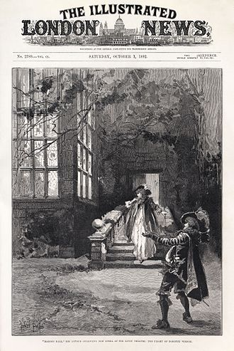 The Illustrated London News - Front cover of 1 October 1892 issue, showing a scene from Sydney Grundy and Arthur Sullivan's Haddon Hall created by M. Browne and Herbert Railton