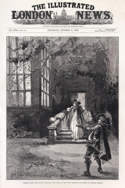 M. Browne - Herbert Railton - Sydney Grundy - Arthur Sullivan - Haddon Hall