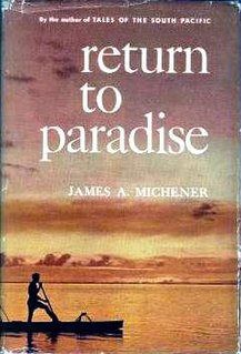 <i>Return to Paradise</i> (short story collection) Book by James A. Michener