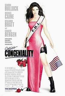 <i>Miss Congeniality</i> (film) 2000 comedy film directed by Donald Petrie
