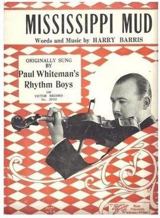 Mississippi Mud - 1927 sheet music, Shapiro, Bernstein and Co., N.Y.