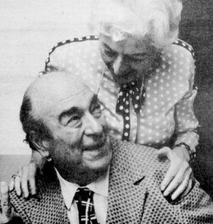 Mort Weisinger - Weisinger and DC Comics proofreader Gerda Gattel in 1975.