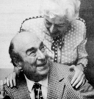 Mort Weisinger - Weisinger and DC Comics proofreader Gerda Gattel in 1975.