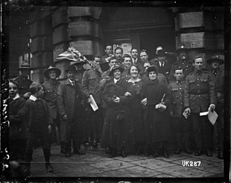 Military history of New Zealand - New Zealand soldiers and civilians in London at the end of World War I, 1918