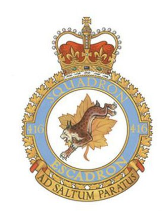 416 Tactical Fighter Squadron - Image: No. 416 Squadron RCAF badge