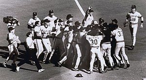 History of the Pittsburgh Pirates - Pirates clinch the Division Title in St. Louis, 1990.