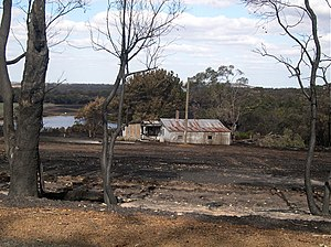 Porongurup, Western Australia -  Fire-scarred farmland, February 2007