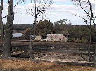 Porongurup, Western Australia -  Fire-scarred farmland, February 2007