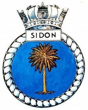 HMS Sidon (P259) - Image: SIDON badge 1