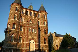 Saint John's Seminary (Massachusetts) - St. John's Hall viewed from Lake Street