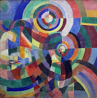 Orphism (art) - Sonia Delaunay, 1914, Prismes électriques, oil on canvas, 250 x 250 cm, Musée National d'Art Moderne, Centre Pompidou, Paris