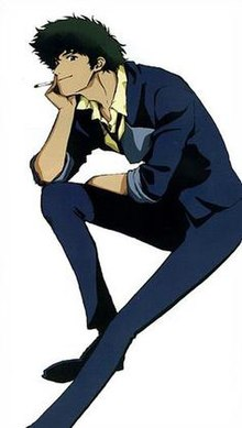 Spike Spiegel as drawn by the creators.jpg