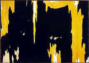 Clyfford Still - Clyfford Still, 1957-D No. 1, 1957, oil on canvas, 113 x 159 in, Albright-Knox Art Gallery, Buffalo, New York
