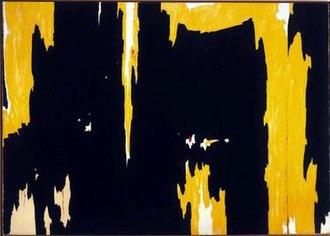 Clyfford Still - Clyfford Still, 1957-D No. 1, 1957, oil on canvas, 113 x 159 in, Albright-Knox Art Gallery, Buffalo, New York