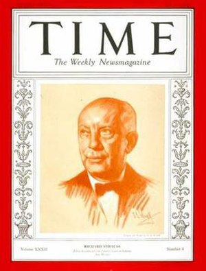 Strauss was on the cover of TIME in 1927 and (...