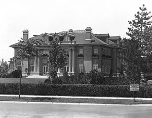 Ward Parkway - The Mack B. Nelson House at the intersection of Ward Parkway and West 55th Street