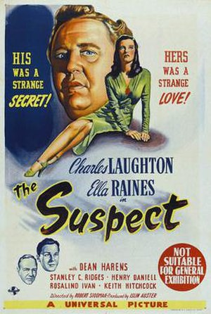 The Suspect (1944 film) - Theatrical release poster