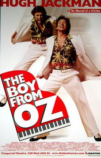 The Boy from Oz - Original Broadway poster