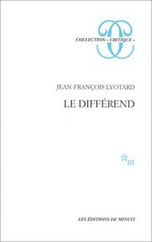 The Differend - Cover of the French edition