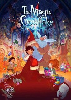 <i>The Magic Snowflake</i> 2013 French animated film directed by Luc Vinciguerra