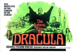 The Satanic Rites of Dracula - Theatrical release poster