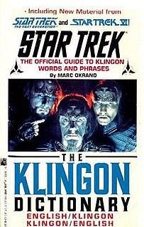 <i>The Klingon Dictionary</i>